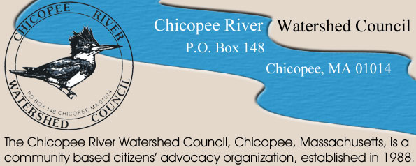 Logo of the Chicopee River Watershed Council - The Chicopee River Watershed Council, Chicopee, Massachusetts, is a community based citizens' advocacy organization, established in 1988.